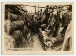 French front line trenches