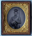 Tintype of unidentified Confederate soldier