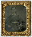 Tintype of Jane McKinney in mourning