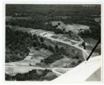 Aerial view of the Civilian Conservation Corps work camp at the Shelby City Negro State Park